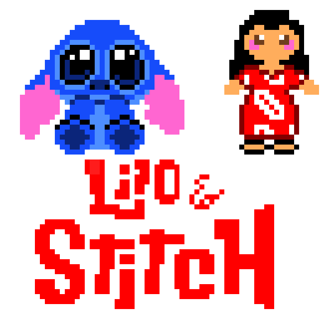 Lilo Stitch Pixel Art Maker