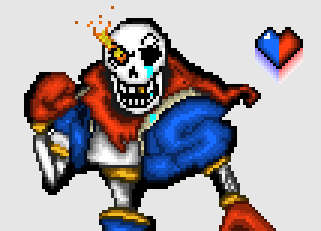Disbelief Papyrus HD (fire)   Pixel Art Maker