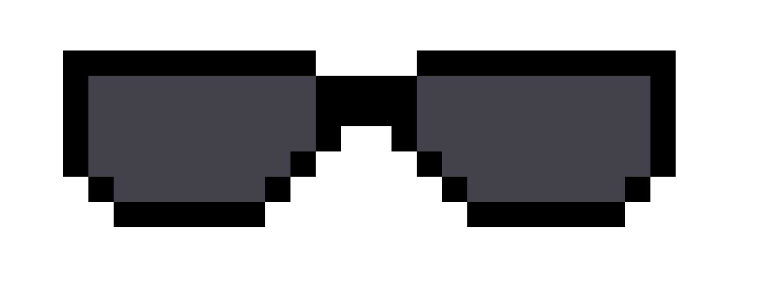 Sunglasses front   Pixel Art Maker