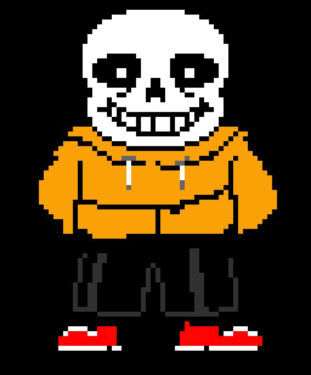 underswap sans as papyrus   Pixel Art Maker