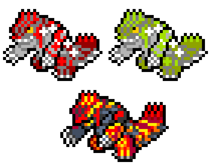 Groudon Pixel Art Maker
