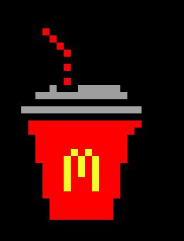 Mcdonalds Drink Pixel Art Maker