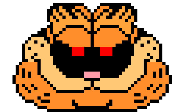 Garfield Exe Pixel Art Maker