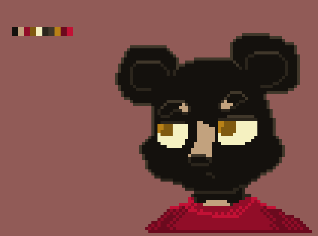 Black Bear Anthro Pixel Art Maker