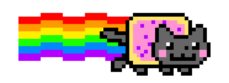 the nyan cat pixel art maker