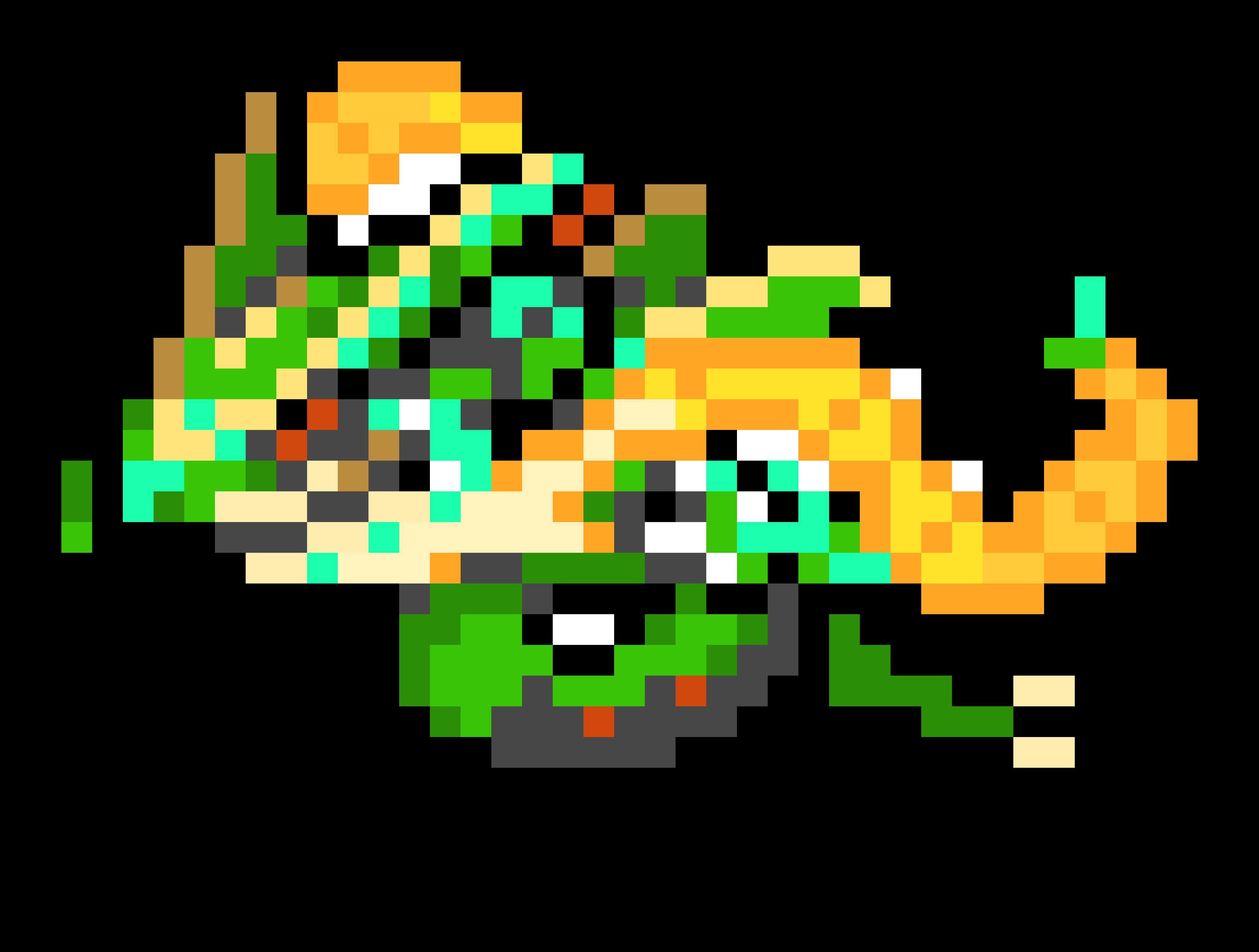 Mega Rayquaza Pixel Art Maker