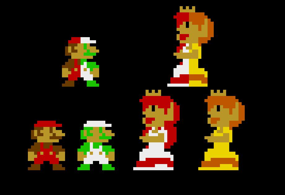 Mario Luigi Peach Daisy Pixel Art Maker