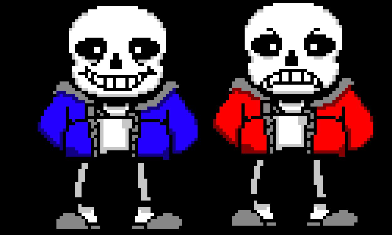sans vs snas pixel art maker