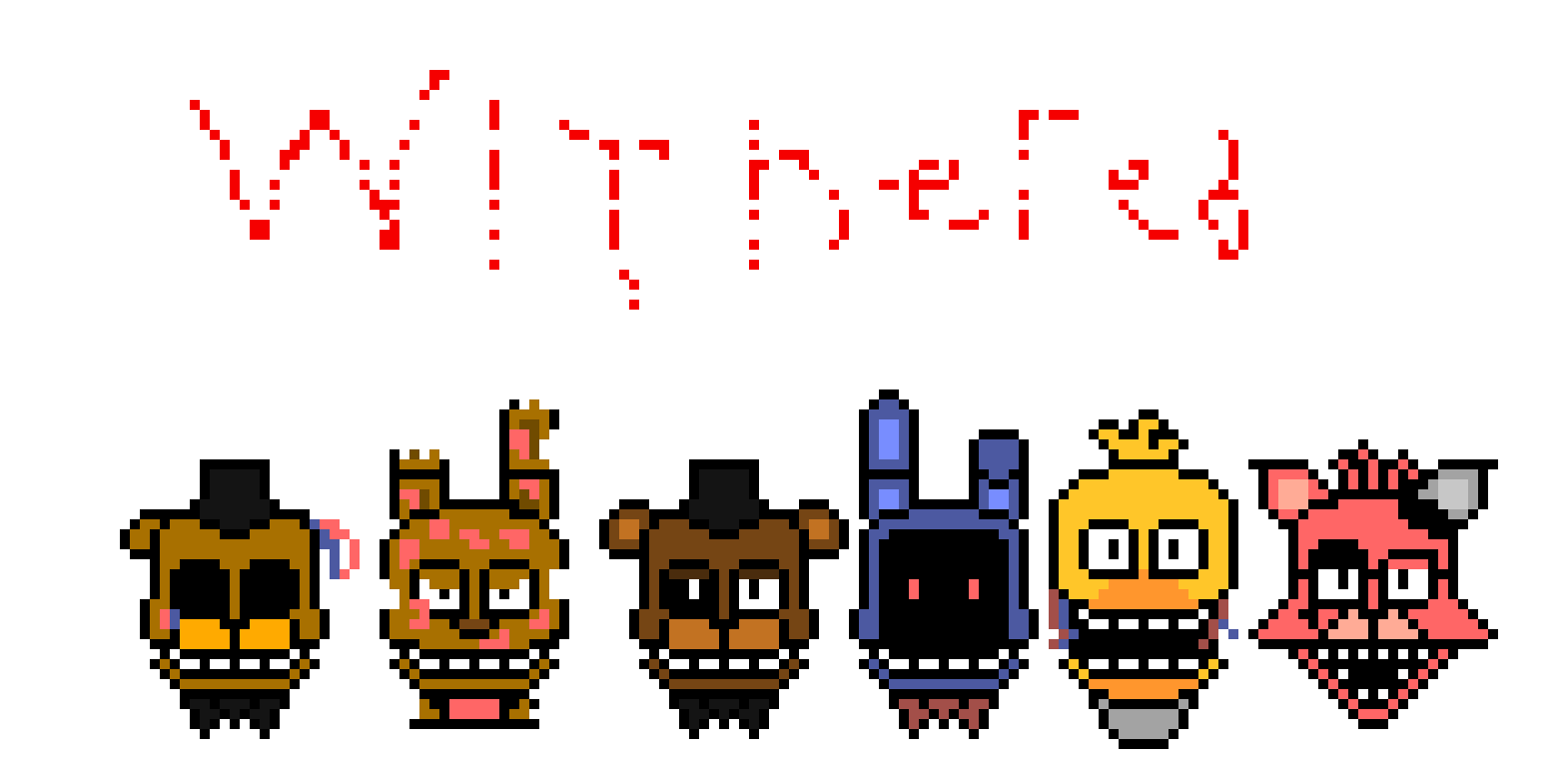 FNAF 2 Un-Withereds Sprites | Pixel Art Maker