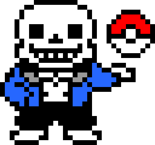 Sans Sprite W Pokeball Pixel Art Maker