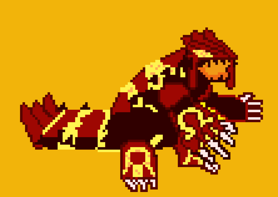 Primal Groudon Pixel Art Maker