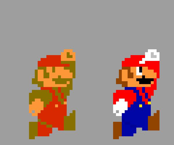 Big Jumping Mario Super Mario Bros 1 Pixel Art Maker