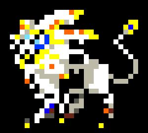 Solgaleo Pixel Art
