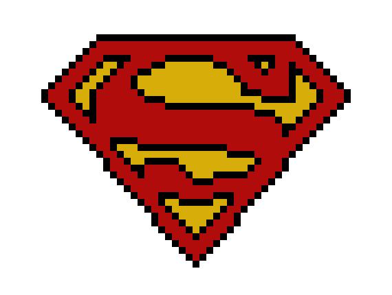 Superman Symbol Logo Or Hope Pixel Art Maker