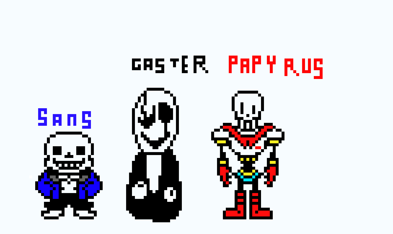 Gaster Sans And Papyrus Pixel Art Maker