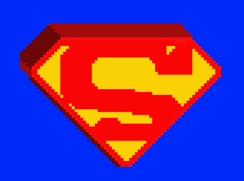 Superman 3d Logo Pixel Art Maker