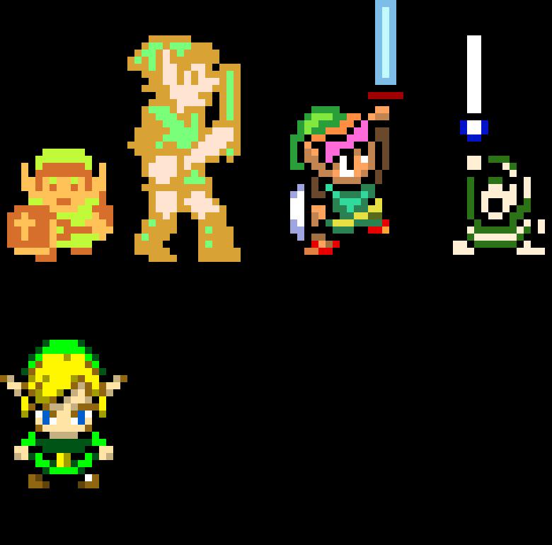 Pixelated Link Sprites