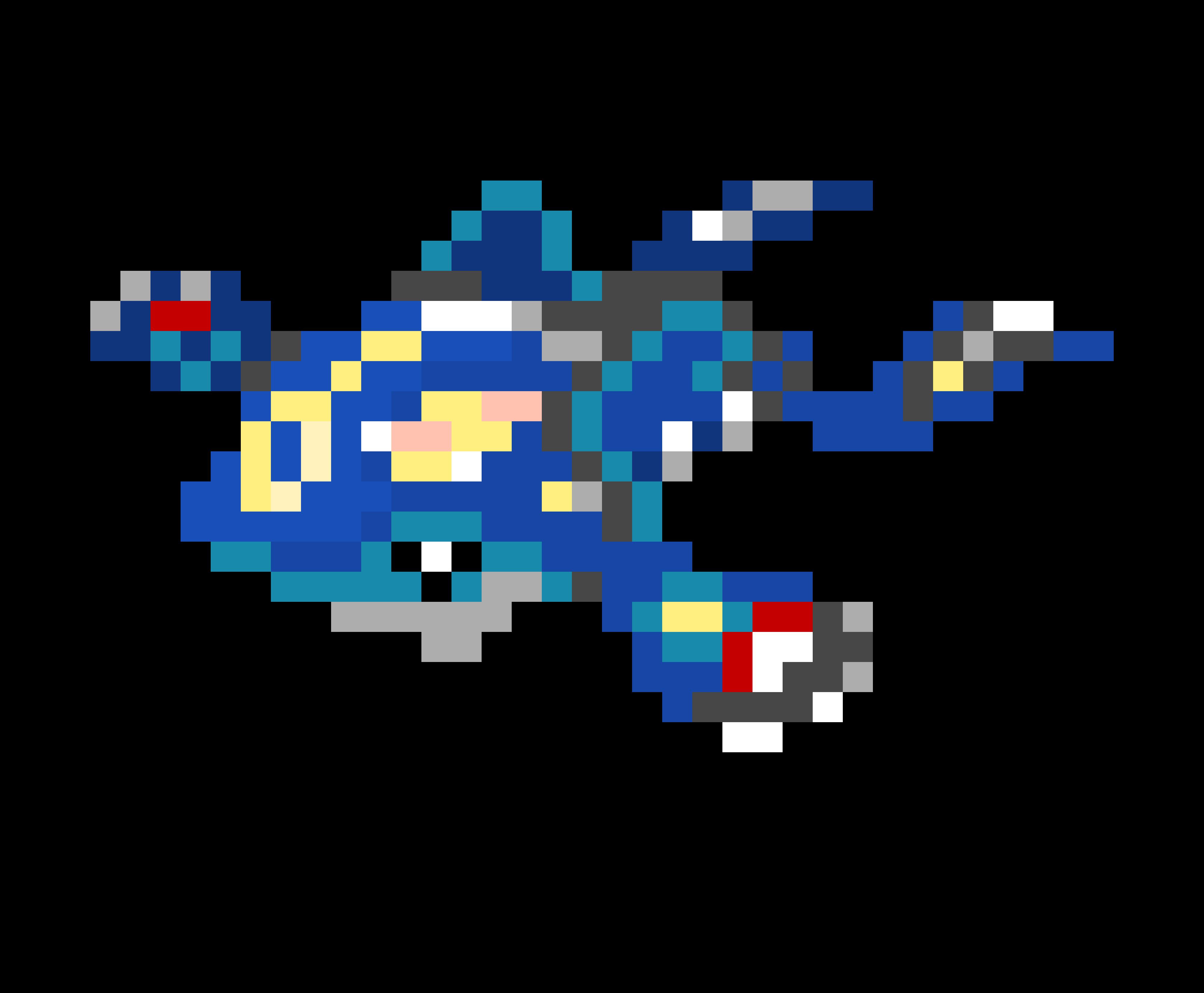 Thebrownfaminaz Kyogre Pixel Art Template