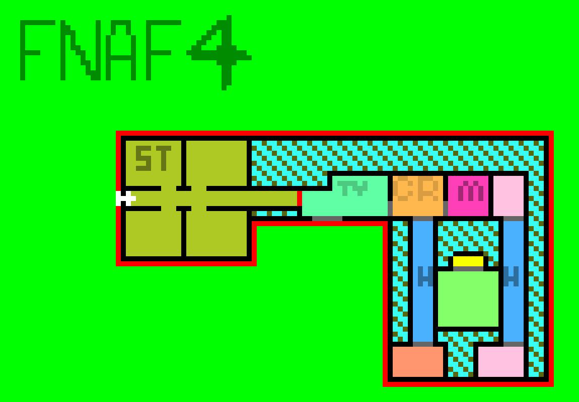 FNAF 4 HOUSE MAP | Pixel Art Maker  House Map on house construction, house highlights, house model, house floorplans, house by road, house from street, house design, house drawing, house bird's eye view, house sketch, house transformation, house diagram, house burglar, house plans, house code, house hat, house dimensions, house blueprints, house film, house that,