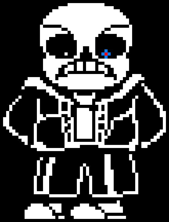 Sans Broke His Foot Pixel Art Maker