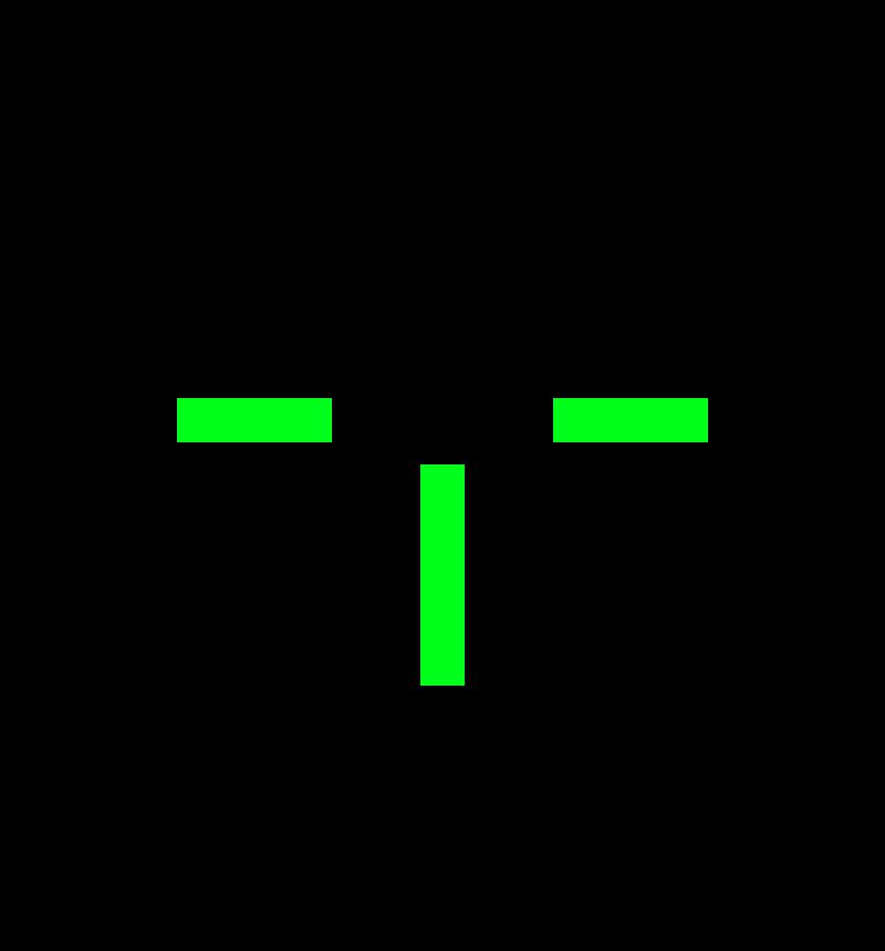 PS2 custom crosshair #2 | Pixel Art Maker