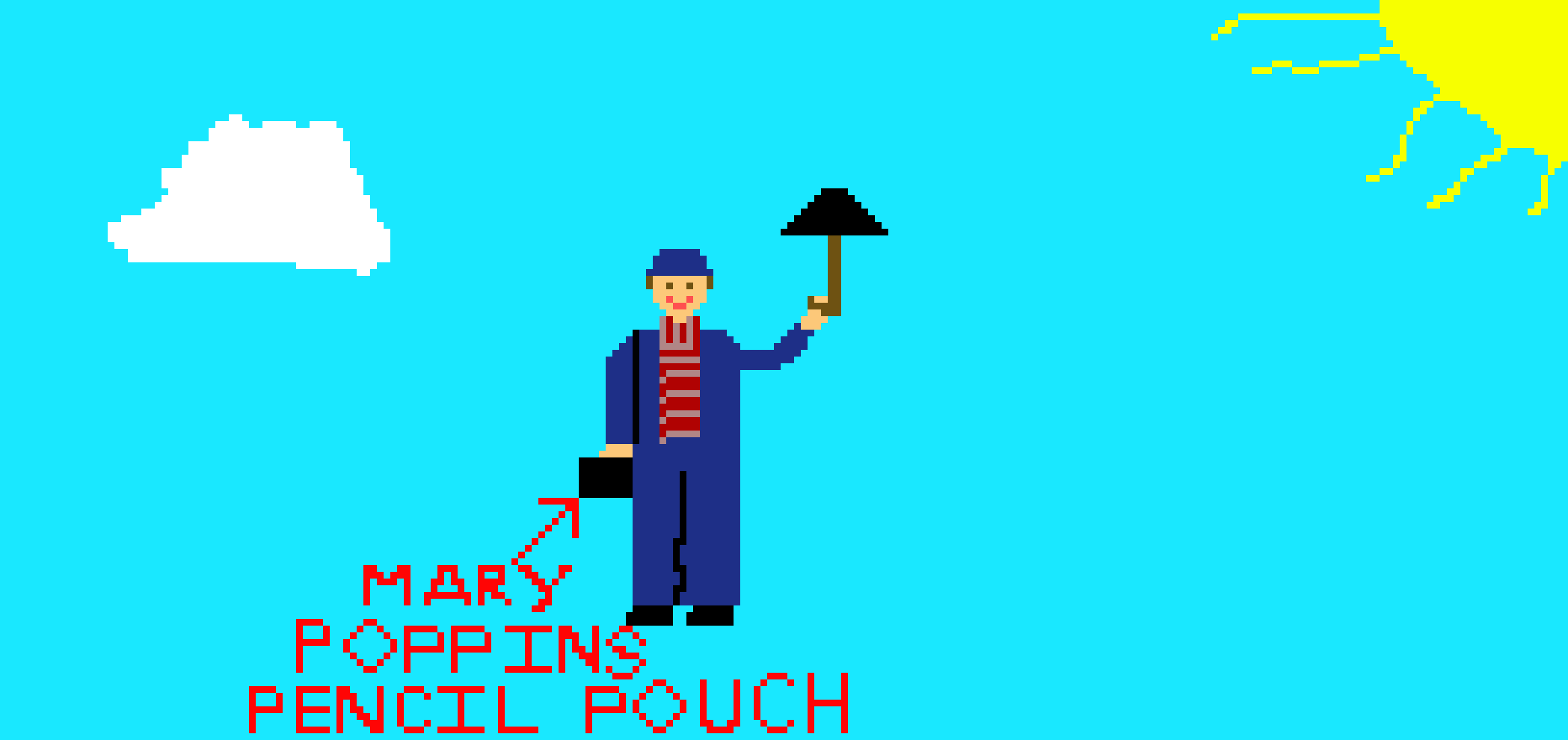 Mary Poppins pencil pouch | Pixel Art Maker