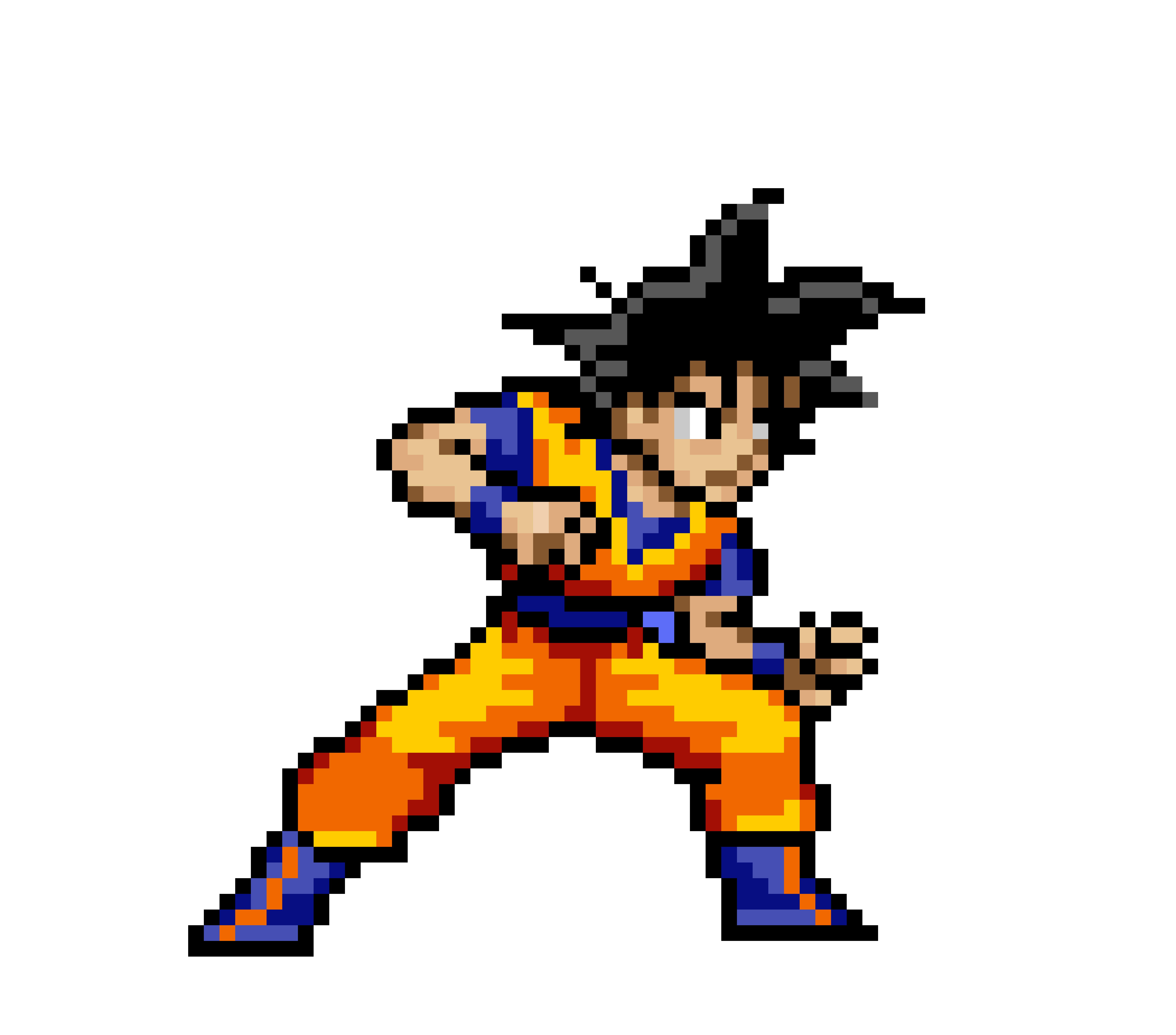 Dragon Ball Z-Goku Sprite-By Thunder The Dangerous Noise