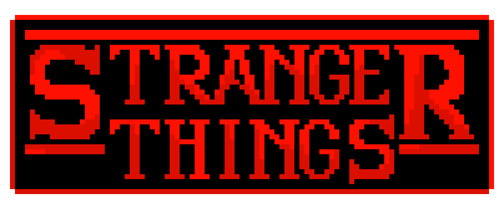 STRANGER THINGS logo pixel art | Pixel Art Maker