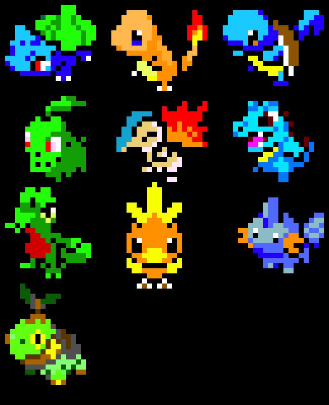 Starter Pokemon Pixel Art Maker