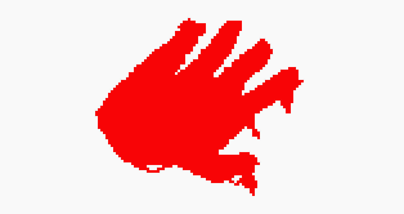 Blood Hand | Pixel Art Maker