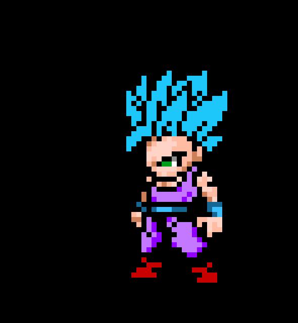 Kid Gohan Super Saiyan 2 Pixel Art Maker