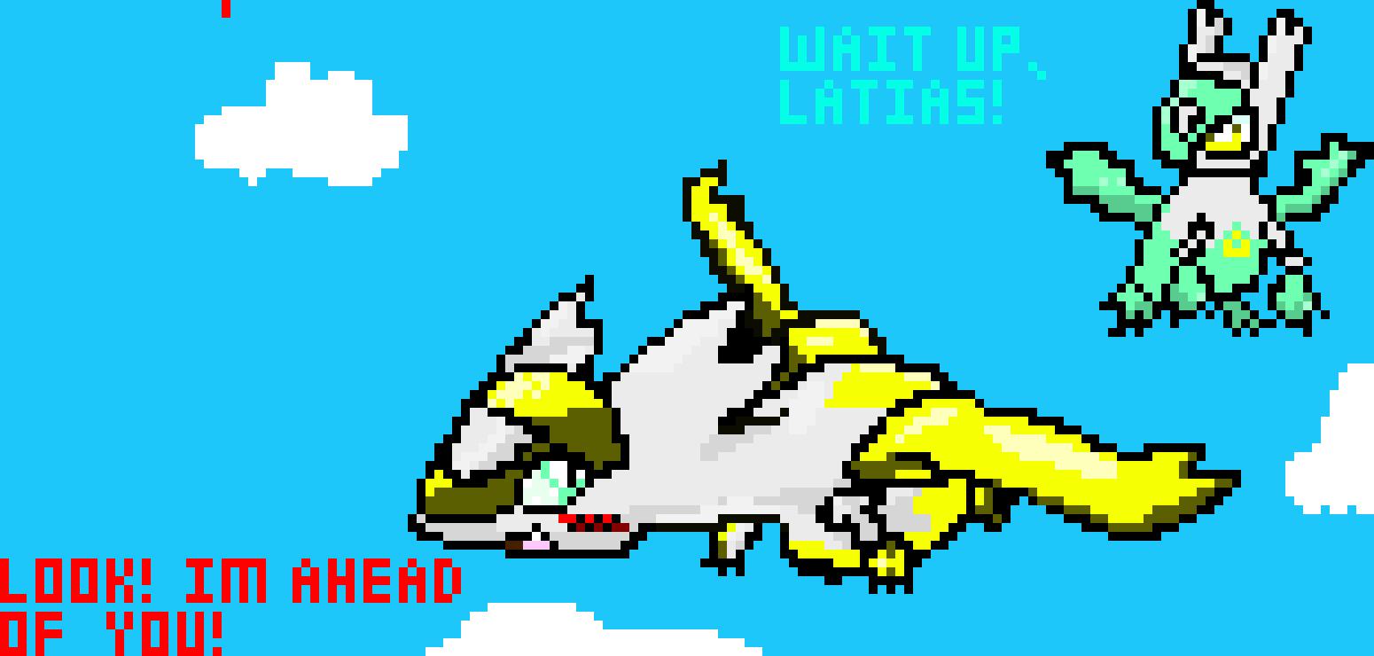 Shiny Latias Shiny Latios By Foucard Pixel Art Maker