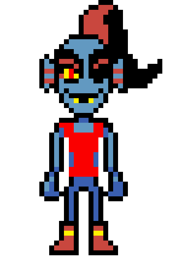Underfell Undyne pixel art