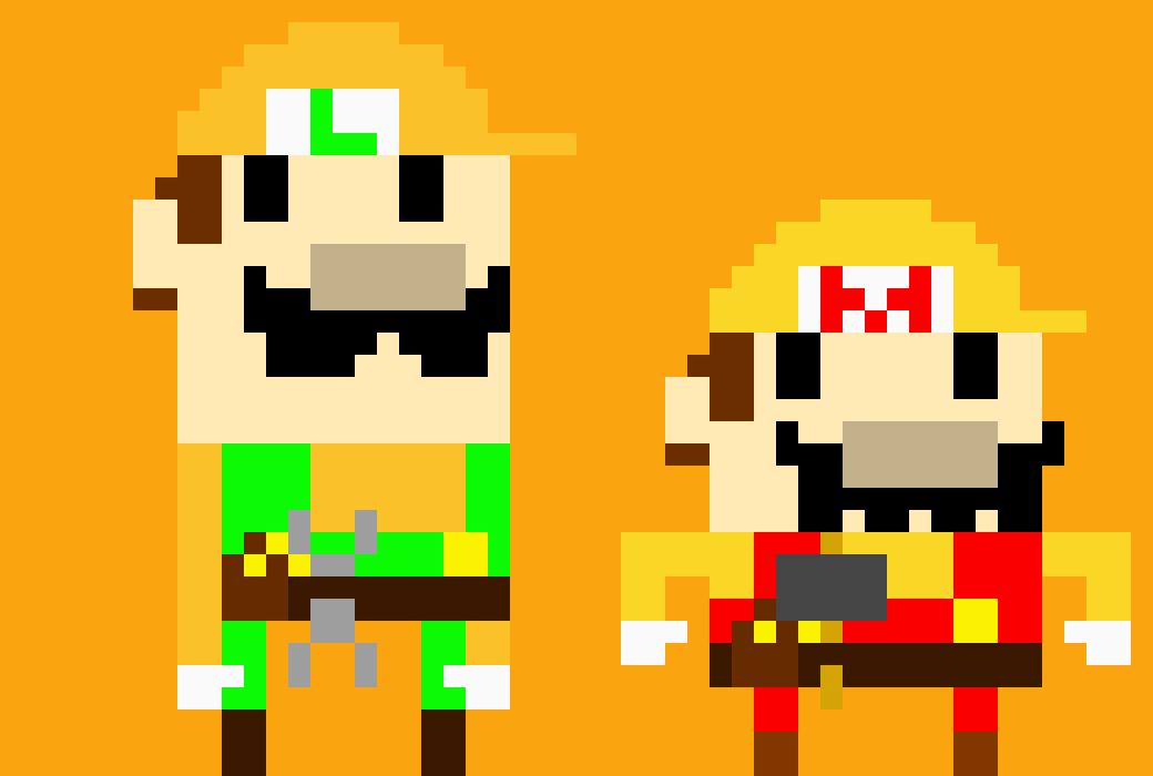 Mario Luigi Mario Maker Pixel Art Maker