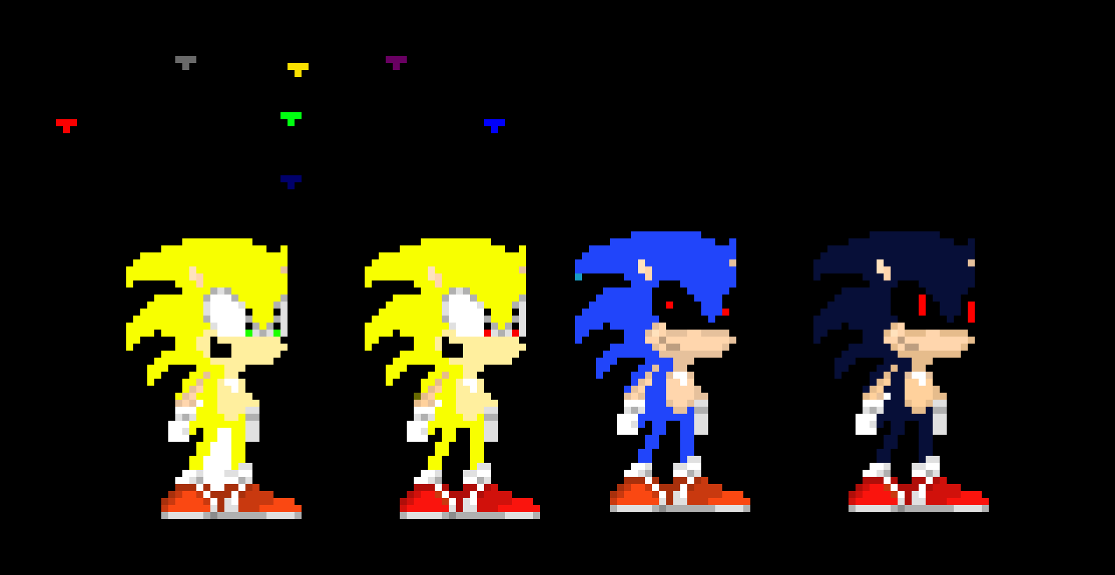 Sonic The Hedgehog Modern Classic Var Pixel Art Maker