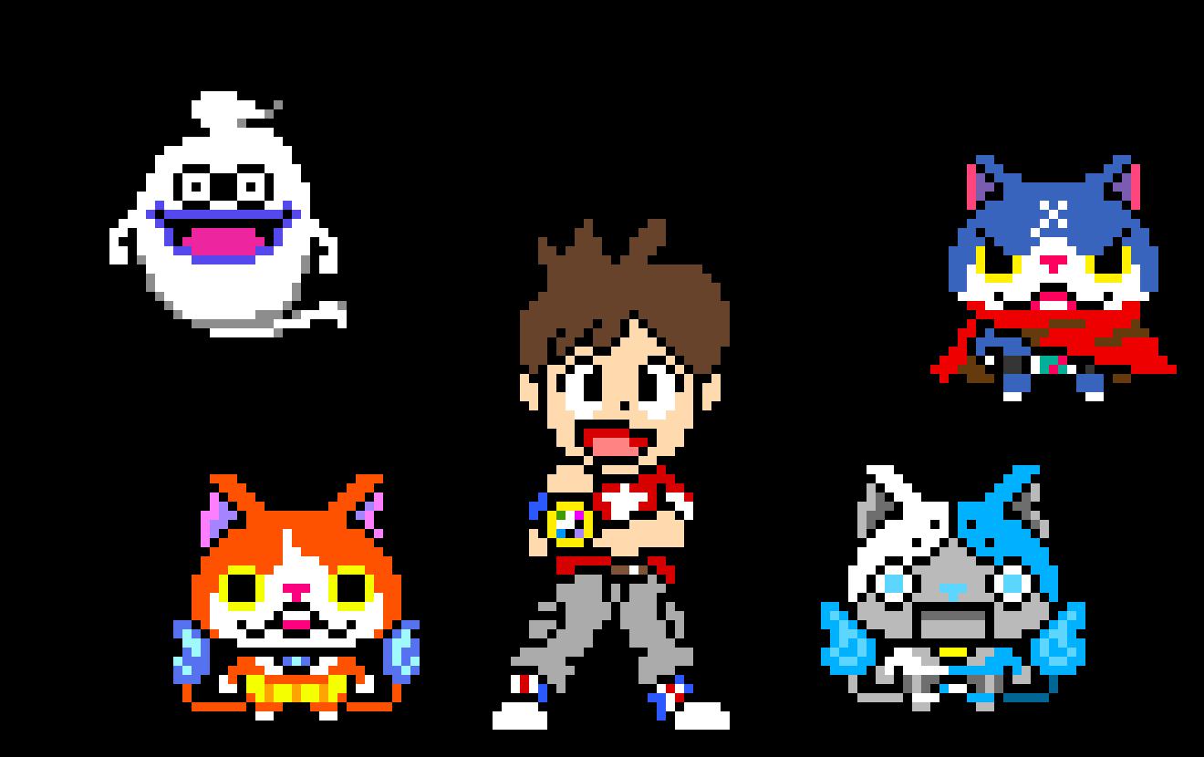 Pixel Art Yo Kai Watch 2