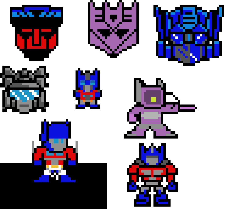 Transformers Pixel Art Maker