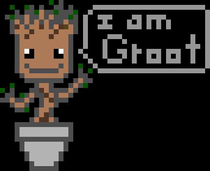 Baby Groot Pixel Art Maker