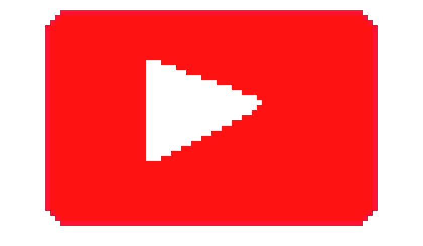 Bien-aimé Youtube Logo | Pixel Art Maker QE79