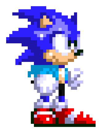 Tales of the Sonic Adventure (Undertale AU by FoxyGamer87) Sonic Sprite