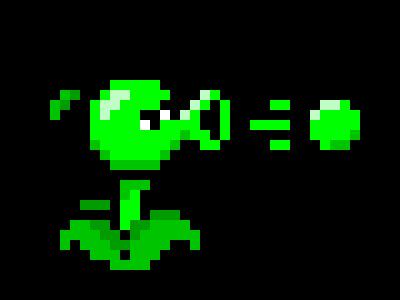 Plants vs  Zombies: Peashooter | Pixel Art Maker