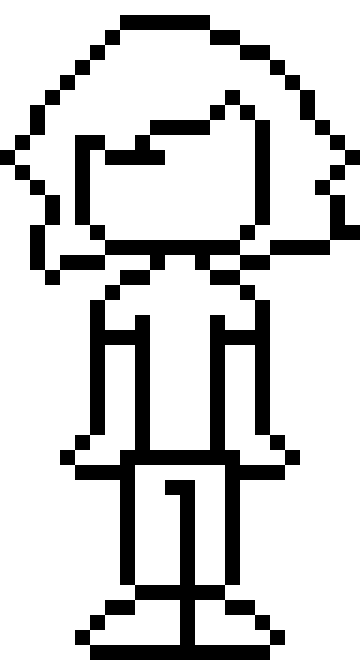 blank person template pixel art maker