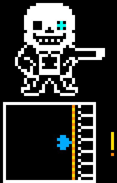 Sans attacks! | Pixel Art Maker