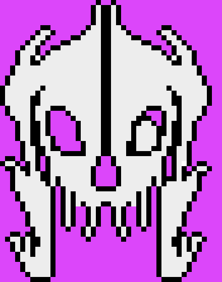 Gaster blaster Firing With Outline