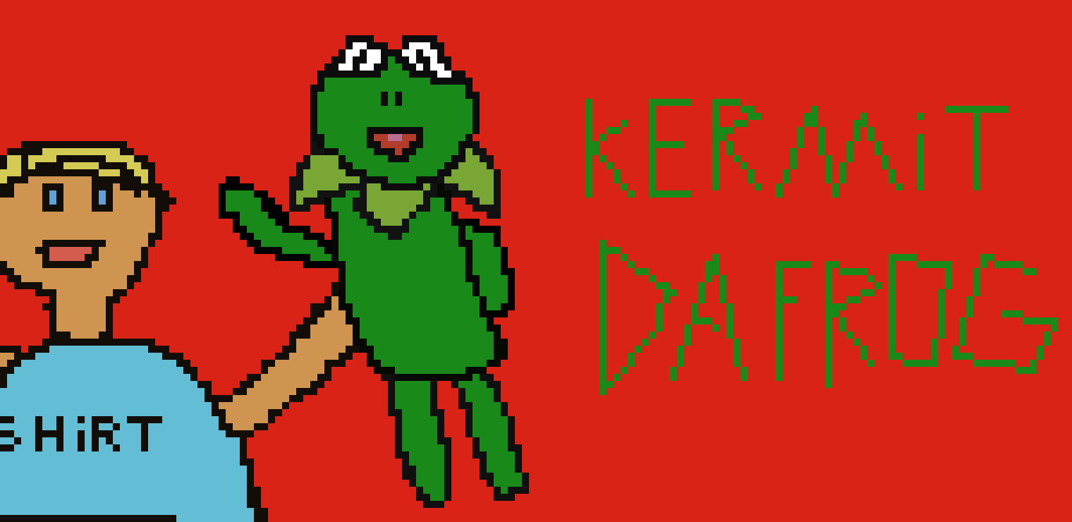 Kermit Da Frog Pixel Art Pixel Art Maker