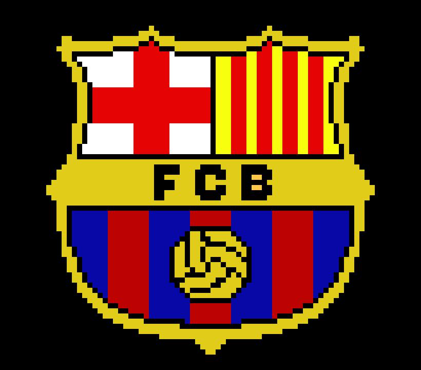 F C Barcelona Logo Pixel Art Maker