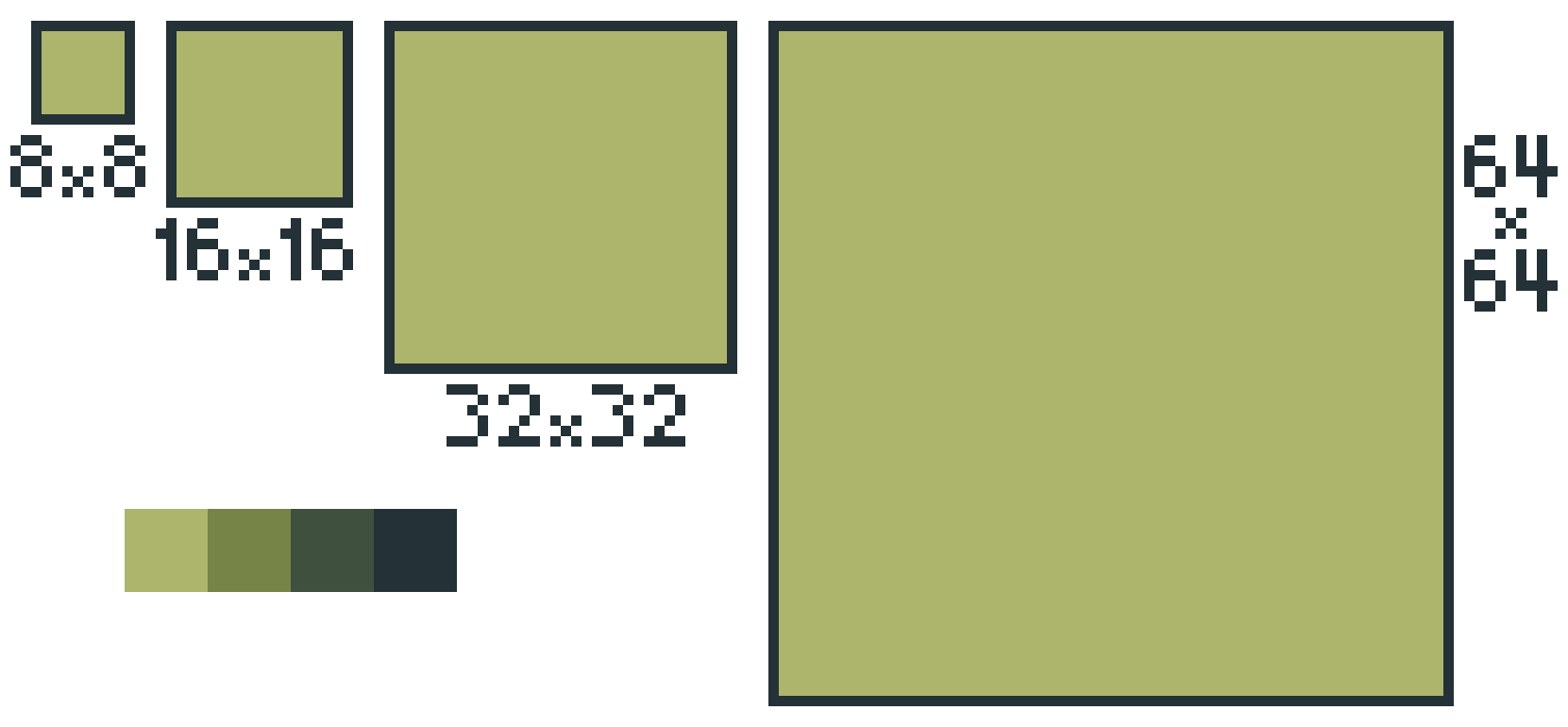 gameboy sprite scaling template and palette pixel art maker