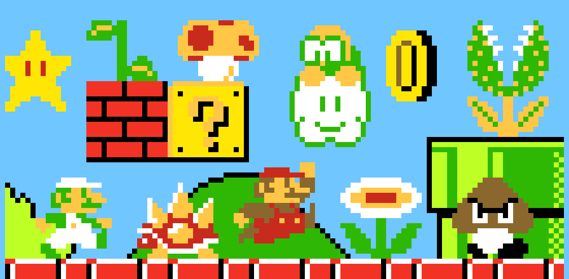 Super Mario Bros Pixel Art Maker
