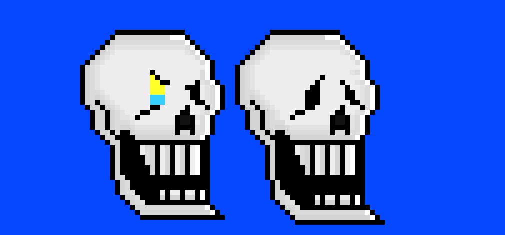 disbelief Papyrus head dialogue ver 3 | Pixel Art Maker