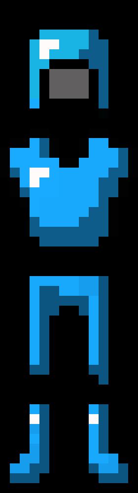Diamond Armour Minecraft Pixel Art Maker